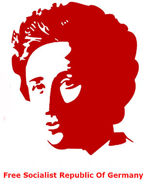 Luxemburgism - Portrait of the revolutionary Rosa Luxemburg.