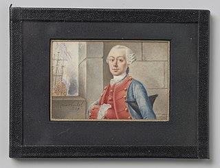 Portret van een zeeofficier