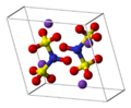Potassium-nitrosodisulfonate-unit-cell-3D-balls.png