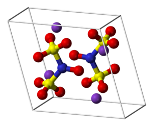 Frémy's salt - Image: Potassium nitrosodisulfonate unit cell 3D balls