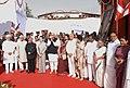 Pranab Mukherjee, the Vice President, Shri Mohd. Hamid Ansari, the Prime Minister, Dr. Manmohan Singh, the Chairperson, National Advisory Council, Smt. Sonia Gandhi, the Leader of Opposition in Lok Sabha, Smt. Sushma Swaraj.jpg