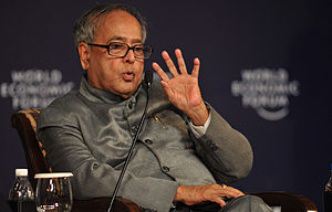 English: Minister of Finance Pranab Mukherjee ...