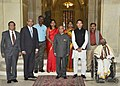Pranab Mukherjee presented the Presidential Awards for Classical Tamil, at Rashtrapati Bhavan, in New Delhi. The Union Minister for Human Resource Development.jpg