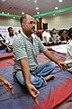 Pravat Mitra in Kapalabhati - International Day of Yoga Celebration - NCSM - Kolkata 2015-06-21 7420.JPG
