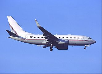 Extraordinary rendition - Boeing 737-700 of PETS in Frankfurt, Germany on 11 January 2003.