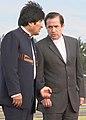 Presidente boliviano, Evo Morales visita a Gobierno Nacional. Canciller Patiño recibe en base aérea (5078813391).jpg