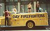 Gay Firefighters float at Gay Pride 1983