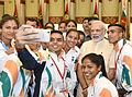 Prime Minister Narendra Modi meets Indian Contingent for Rio Olympics (2).jpg