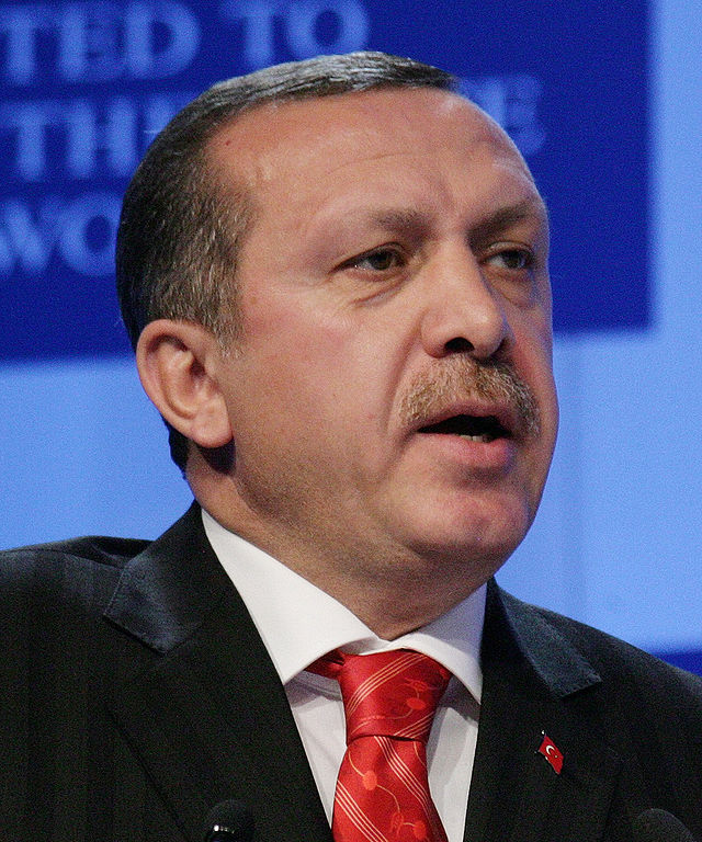 From commons.wikimedia.org: Prime Minister of Turkey Recep Tayyip Erdogan {MID-71110}