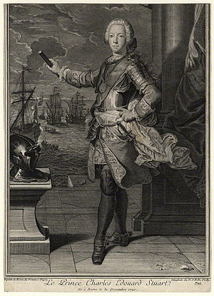 Nicolas Jean Baptiste Poilly - Prince Charles Edward Stuart by Nicolas Jean Baptiste Poilly, 1746, in the collection of the National Portrait Gallery, London