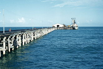 Prinzapolka - Photo of Puerto Isabel dock owned by La Luz Gold Mine in Siuna and Bonanza and Rosita