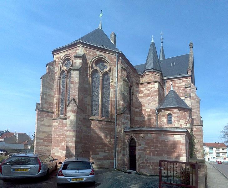Protestantisch-lutherische Pfarrkirche Forbach, Südecke