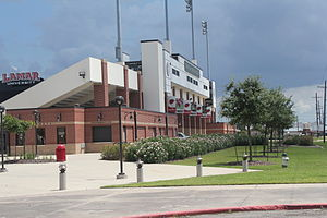 Lamar Cardinals and Lady Cardinals - Image: Provost Umphrey outside of the stadium