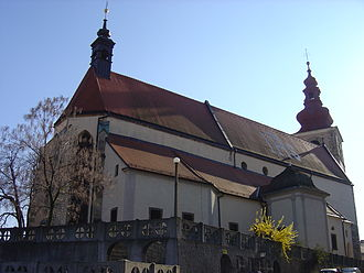St. George's Church (Ptuj) - St. George's Church and the free-standing Town Tower behind it