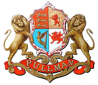 Pullman train (UK) - Pullman Shield seen on the sides of the company's coaches