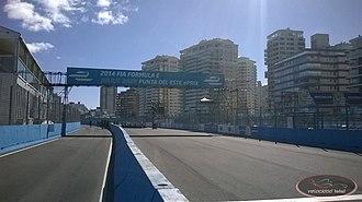 Street circuit - Punta del Este Street Circuit, Uruguay, the first ePrix of Formula E in the Americas. It runs along Punta del Este's harbour – nicknamed the Monte Carlo of South America