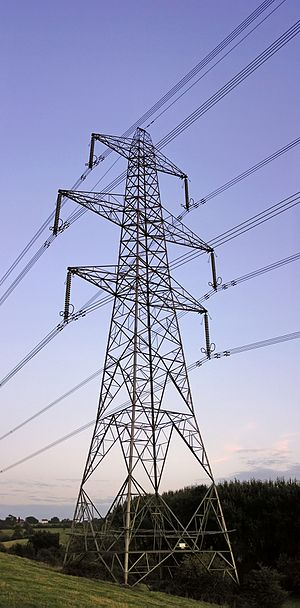 Transmission tower - A transmission tower