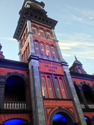 Port of Spain - Historic Queen's Royal College Clock Tower 2015
