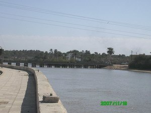 Al-Gharraf River - Bridge over the Gharraf Canal at Qalat Sukkar