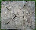 Quad verum tutum stone (What is true is right), Spier's, Beith.JPG