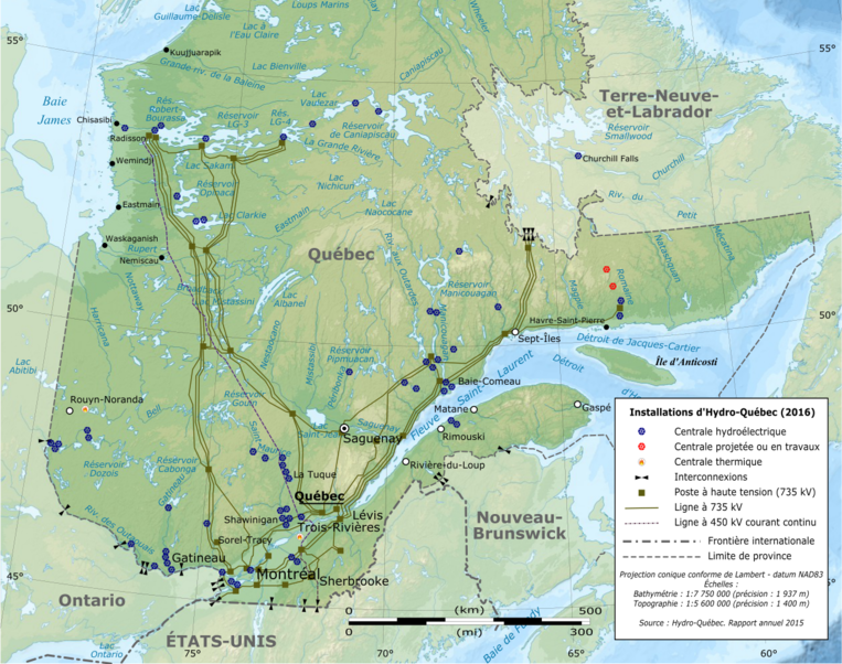 Fichier:Quebec Map with Hydro-Québec infrastructures-fr.png