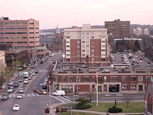 Quincy Center - View of Quincy Center from Adams Street and Hancock Street.