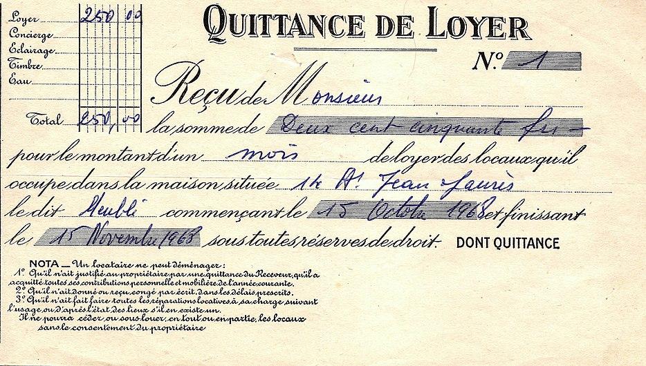 Quittance de loyer (1968).jpg