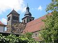 Rückansicht der Türme der Reglerkirche Erfurt.JPG