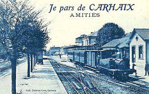 1891 in rail transport - Carhaix station, Réseau Breton.