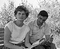 RIAN archive 67418 Bykovsky and Tereshkova in pre-flight days.jpg