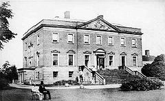 Radbourne Hall in the 1860s