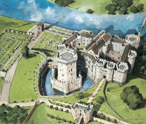 Raglan Castle - Reconstruction of Raglan Castle around 1620