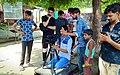 Rahul at shooting of Lakshksha.jpg