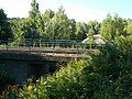 Railway bridge, Veszprém railway station, 2016 Hungary.jpg