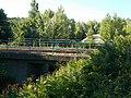 Railway bridge, Veszprém railway station, 2016 Hungary.jpg