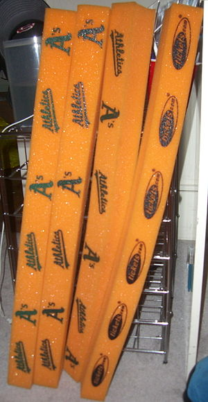 2006 American League Championship Series - Rally sticks given to fans for Game 1 in Oakland.