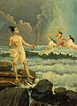 Rama conquers Varuna, the sea god.jpg