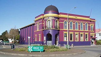 Rangiora - Rangiora Town Hall and Regent Cinema.