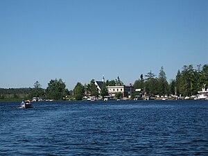 Raquette Lake, New York - Public center of Raquette Lake village