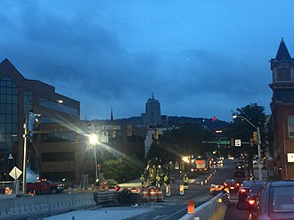 Reading, Pennsylvania - Reading downtown as seen from Penn and 2nd Streets