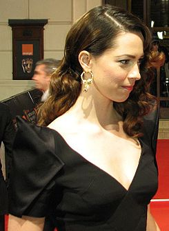 Rebecca Hall on the red carpet at the 63rd British Academy Film Awards.jpg