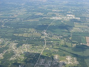 Red Lion, Ohio - Aerial view of Red Lion