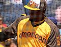 Red Sox DH David Ortiz takes batting practice on Gatorade All-Star Workout Day. (28583616831).jpg