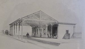 Redhill railway station - Red Hill and Reigate Road railway station in 1841.