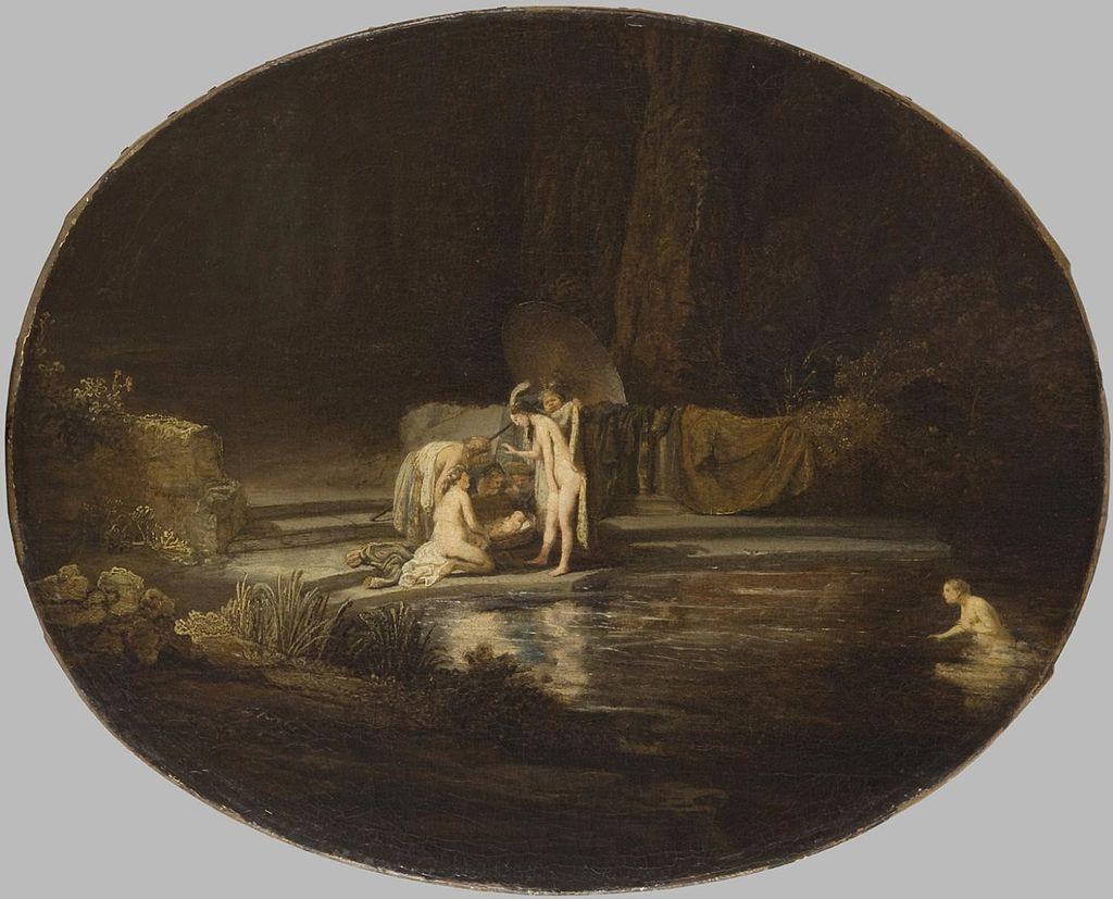 모세의 출생: 1630년 렘브란트 작 - The Finding of Moses (1630s) - 모세가 출생 할 당시....