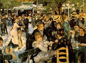 Pierre-Auguste Renoir, Le Bal au Moulin de la Galette, olej na plátně (1876)