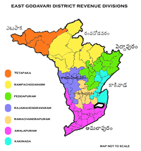 Revenue divisions map of East Godavari district.png