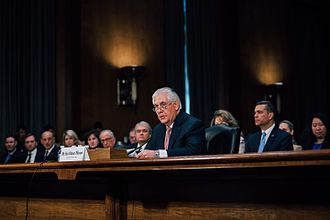 Rex Tillerson - Tillerson at his confirmation hearing on January 11, 2017