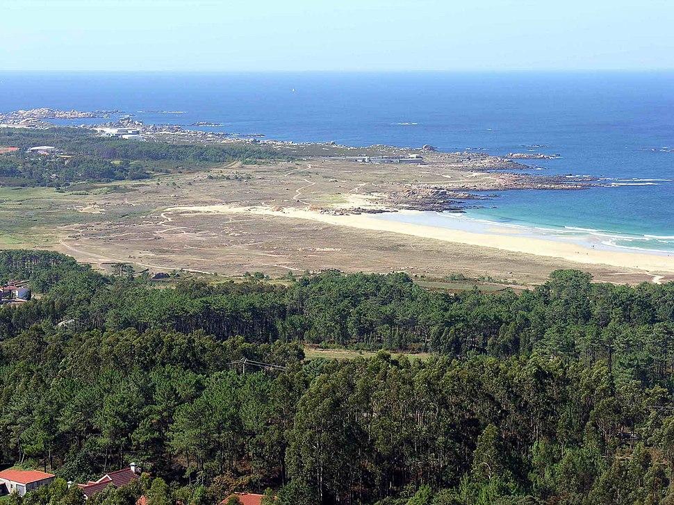 Praia do Vilar, na parroquia de Carreira