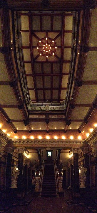 Driehaus Museum - looking up and towards the main stairwell from the first floor